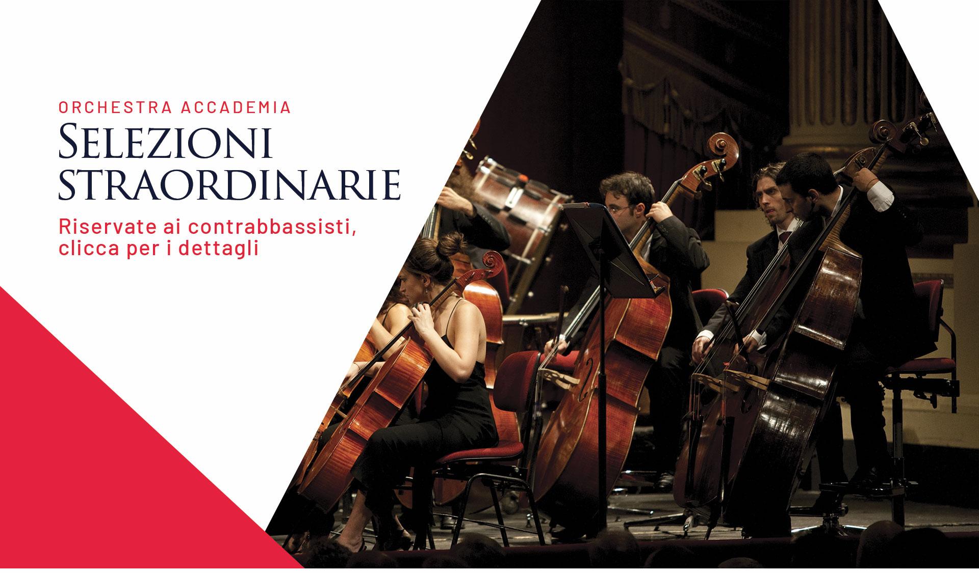 selezioni per contrabbassi orchestra accademia